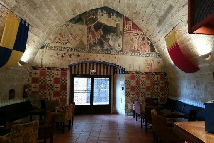interiores castillo calatravo alcañiz