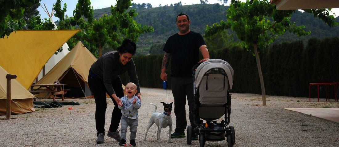 Verano con la familia en Camping el Roble