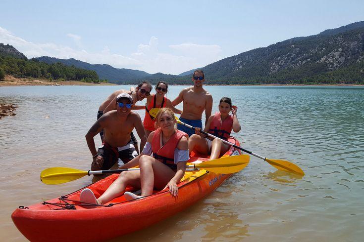 kayak en el embalse de pena