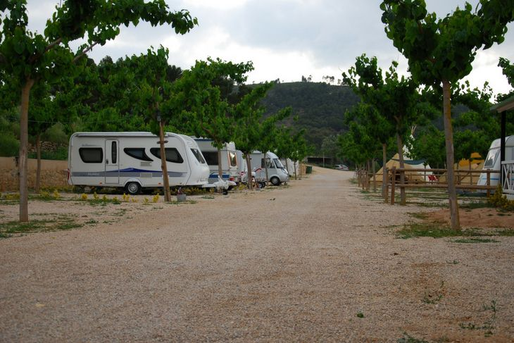 vista general parcelas camping