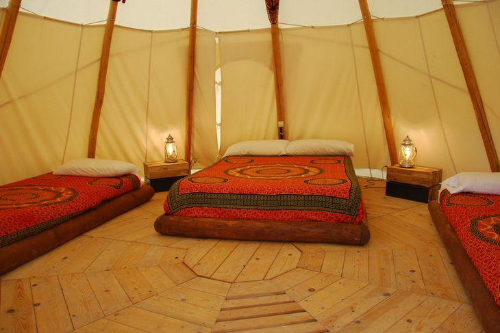 tipi indio camping el roble