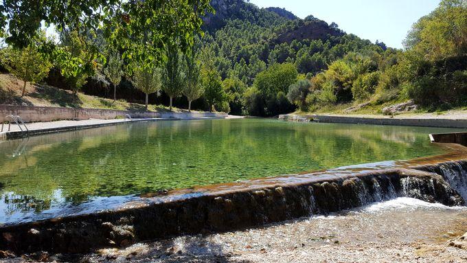 Vista desde el Azud piscina natural Beceite