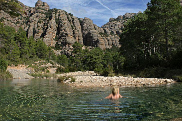 Las Pesqueras piscinas naturales puertos de beceite