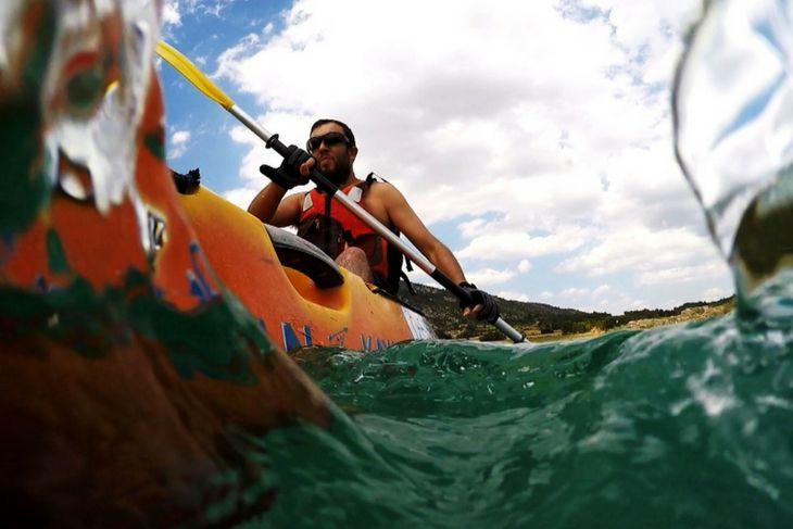 Navegando en kayak doble en Beceite