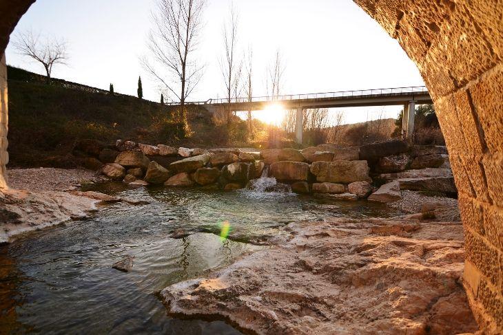Ocaso en el río Tastavins