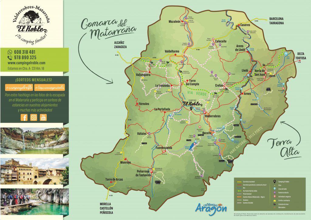 Plano turístico comarca del Matarraña