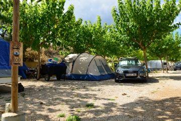 Parcela superior en Camping Matarraña