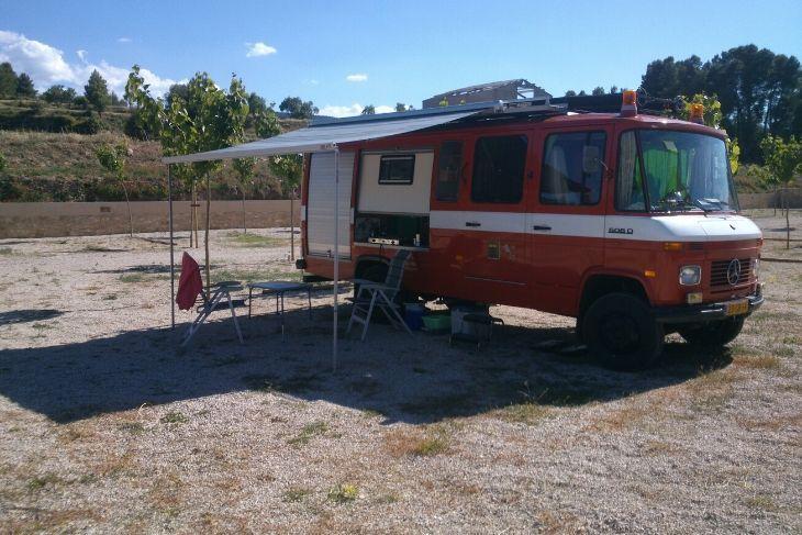 Autocaravana Camping Bajo Aragón
