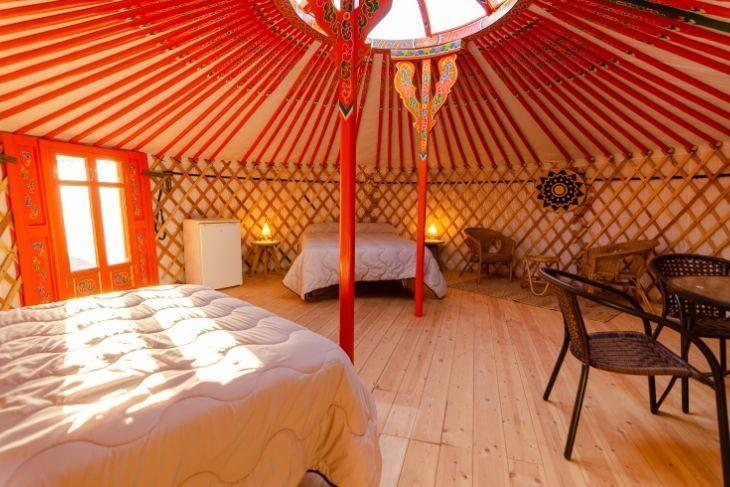 Yurta alojamiento en Valderrobres
