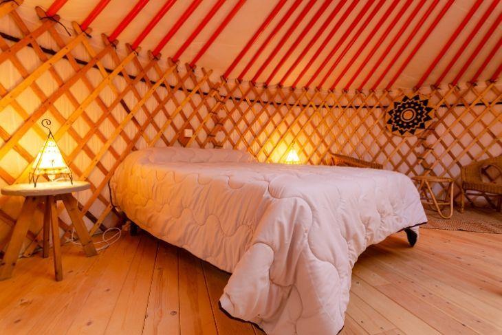 Descansa en un Yurta Mongola